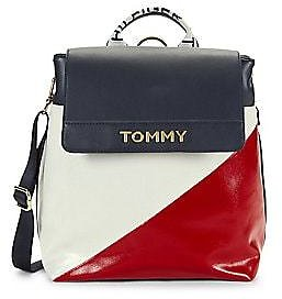 Tommy Hilfiger - Cassie Nylon Colorblock Flap Backpack