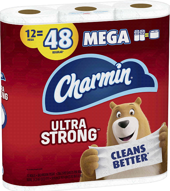 12-Ct Charmin Ultra Strong Toilet Paper Mega Roll, 286 Sheets Per Roll Toilet Paper | Meijer Grocery, Pharmacy, Home & More!