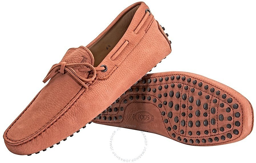 *70% OFF* Tods Men's Leather Moccasins Light Cotto