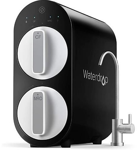 Waterdrop RO Reverse Osmosis Water Filtration System, TDS Reduction, 400 GPD Fast Flow, Tankless, FCC Listed, 1:1 Drain Ratio