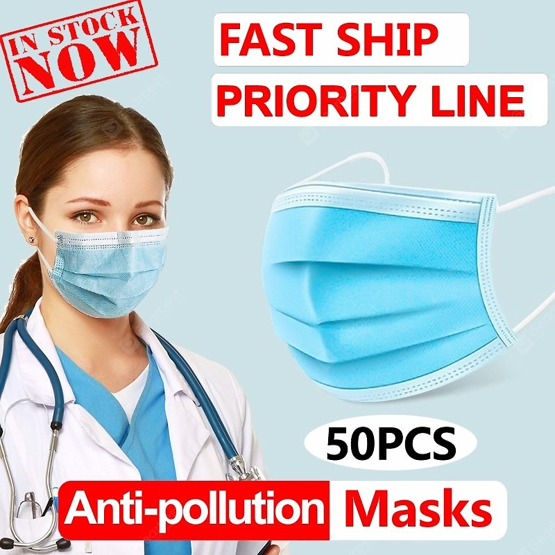 Face Masks Non Medical Anti-Pollution Disposable 3 Layer Meltblown Ordinary Thicken Free Shipping Sale, Price & Reviews | Gearbest