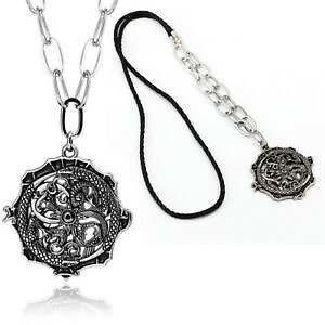 Punk Men Women Silver Stainless Steel Dragon Necklace Pendant Chain Link Jewelry