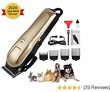 HeiYi Pet Clipper for Dogs Thick Hair, Professional Pet Hair Grooming Clippers with Low Noise, Electric Rechargeable Cordless Dog Shaver Trimmers for Cats and Other Pets