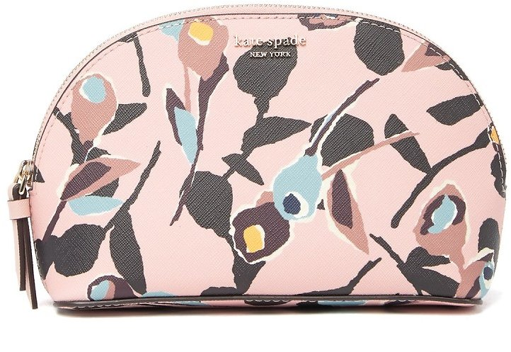 Kate Spade New York | Leather Cameron Paper Rose Medium Done Cosmetic Case | Nordstrom Rack