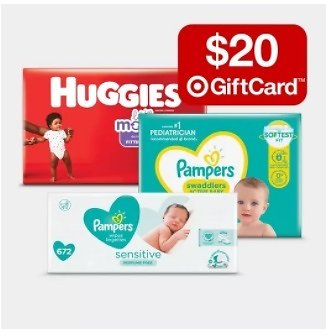 Free $20 Gift Card w/ $100 Baby Diapers
