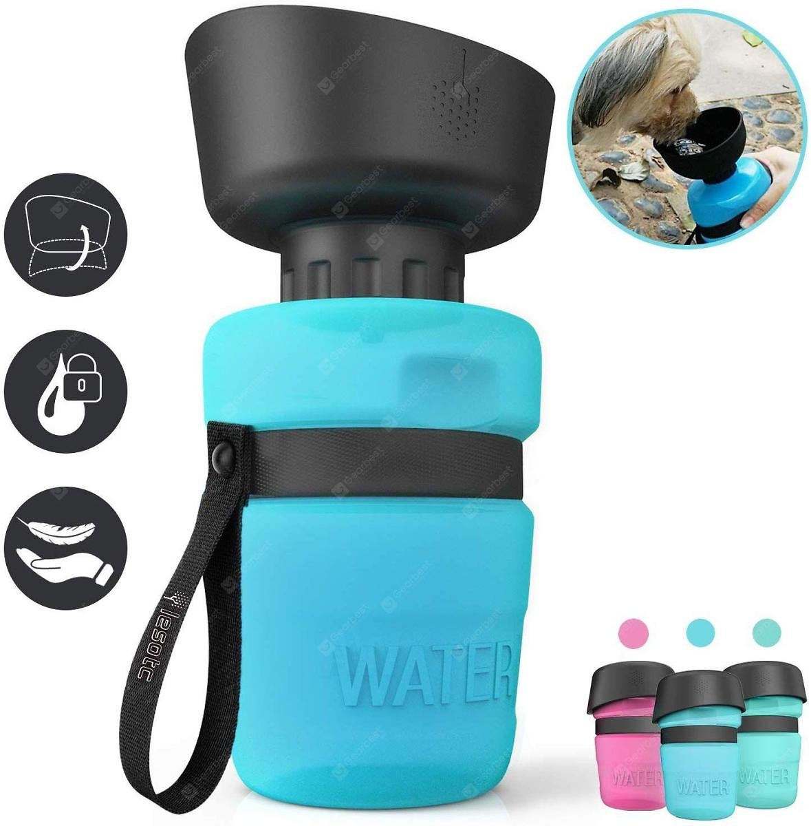 LESOTC Dog Water Bottle for Walking Hiking 18oz 520 Ml Portable Water Bottle for Dogs Sale, Price & Reviews | Gearbest