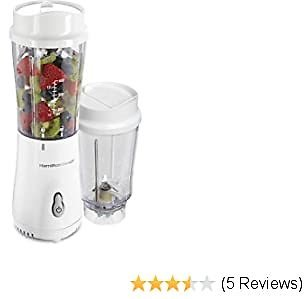 Hamilton Beach Personal Blender W/14oz Travel Jars
