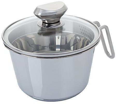 Wolfgang Puck 6-Cup Stainless Steel Weeknighter Pot with Colander Lid - 9351733   HSN