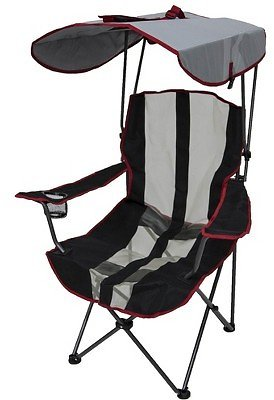 Kelsyus Premium Foldable Outdoor Lawn Camping Chair W/Cup Holder and Canopy