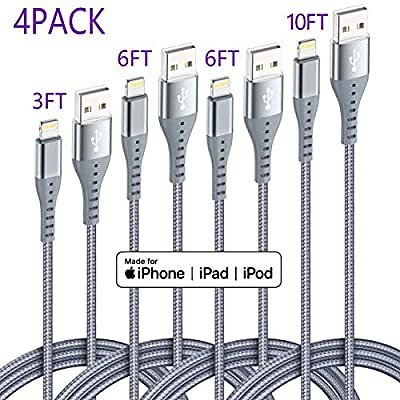 Save 74% On IPhone Charging Cable 4 Pack