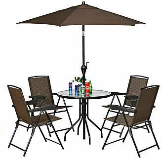 ☆up to 29% Off☆Gymax Gymax Set of 4 Folding Sling Chairs Steel Armrest Patio Garden Pool Adjustable Back