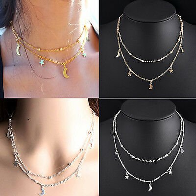 Fashion Women Charm Pendant Jewelry Chain Choker Chunky Bib Statement Necklace