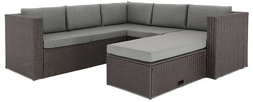 McNab 4 Piece Rattan Sectional Seating Group with Cushions