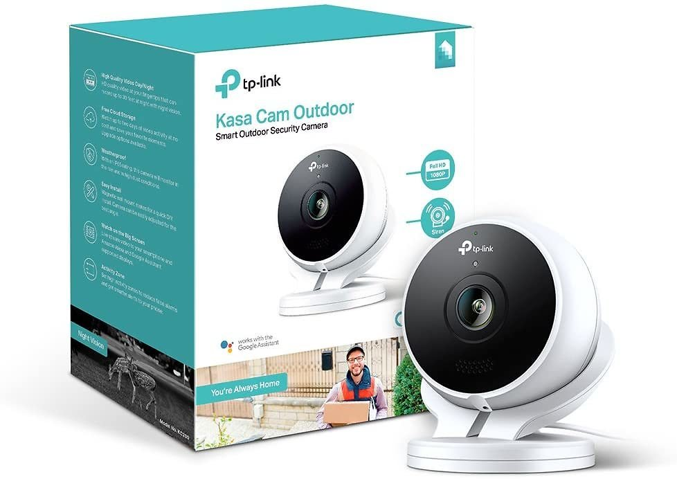 Kasa Outdoor Camera By TP-Link, 1080p HD Smart Home Security Camera with Night Vision