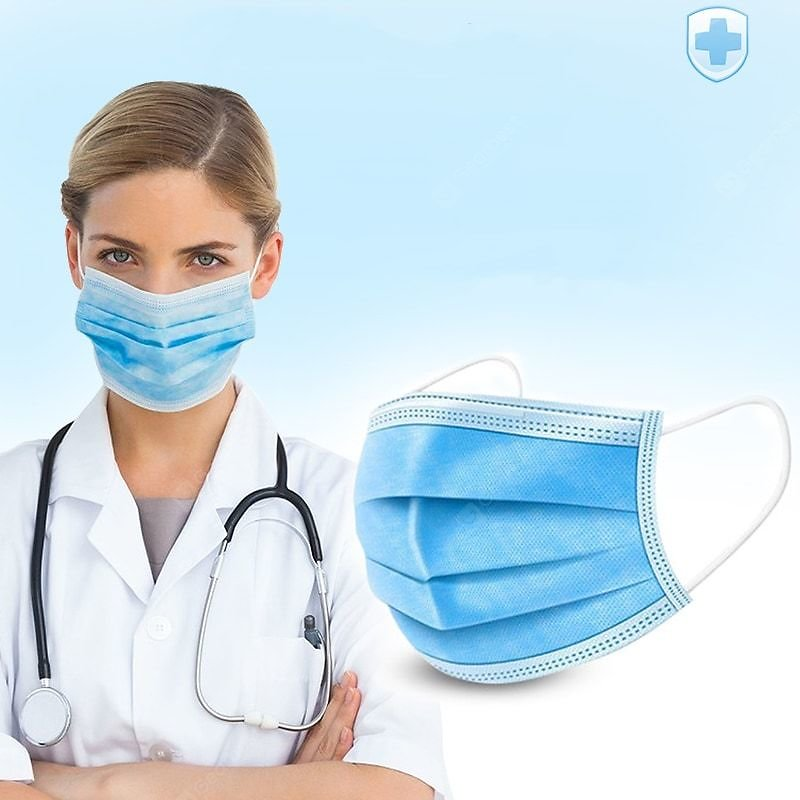 Disposable Face Mask Baby Blue Personal Protective Equipment Sale, Price & Reviews | Gearbest