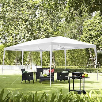 Gymax 10'x20' Canopy Party Wedding Tent Heavy Duty Gazebo Pavilion Cater Event Outdoor New