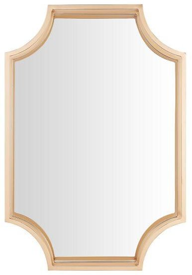 StyleWell Medium Rectangle Gold Dimensional Classic Accent Mirror