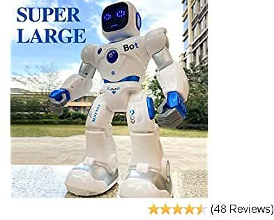 Extra 47% Off Ruko Smart Robots for Kids, Large Programmable Interactive RC Robot with Voice Control, APP Contol