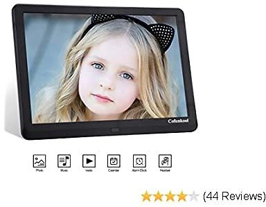 Digital Photo Frame 10 Inches, CofunKool Digital Picture Frame with HD 1920x1080 IPS Screen, Support 1080P Video, Music Player, Auto On/Off Timer, Calendar, Alarm, with Remote Control