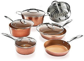 Gotham Steel Hammered Copper 10-Pc. Cookware Set