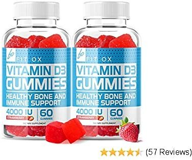 Vitamin D3 Gummies with Zinc Echinacea Supplements 4000 IU, Chewable Vitamin D for Adults Kids - VIT D Immune Booster, Bone Health, Joint Muscle Support - Tablet Powder Alternative Vegan (2 Pack)