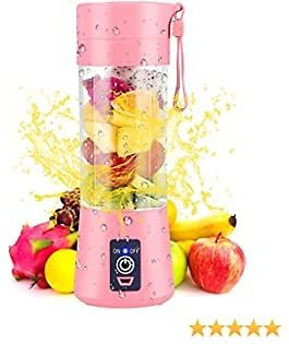40% Off-Portable Blender Personal Blender for Shakes and Smoothies USB Rechargeable Pink- $13.99