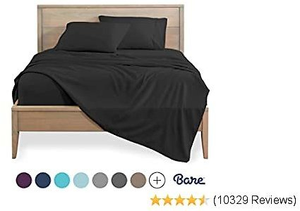 Bare Home King Sheet Set - 1800 Ultra-Soft Microfiber Bed Sheets - Double Brushed Breathable Bedding - Hypoallergenic – Wrinkle Resistant - Deep Pocket (King, Charcoal)