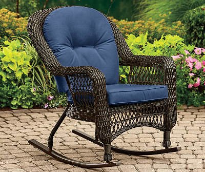 Wilson & Fisher Navy Blue Replacement Westwood Rocker Cushion - Big Lots