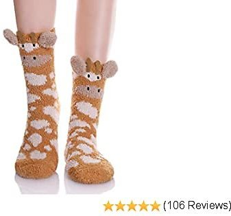 YEBING Women Girls Super Soft Fuzzy 3D Cute Animal Cartoon Winter Warm Slipper Socks
