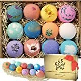 Bath Bombs Gift Set, Natural Bubble Bath Bomb Gift Set, Spa Bath Fizzies Balls Kit Gift for Mother, Wife,Girlfriend, Daughter, Women, Her, SPA Bomb Make Your Skin Soft with 7 Pcs