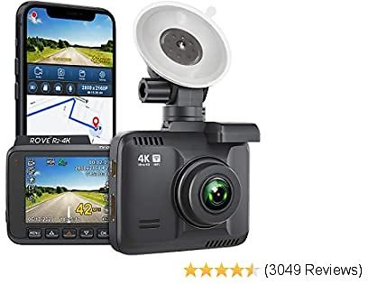 Dash Cam Built in WiFi GPS Car Dashboard Camera Recorder with UHD 2160P, 2.4