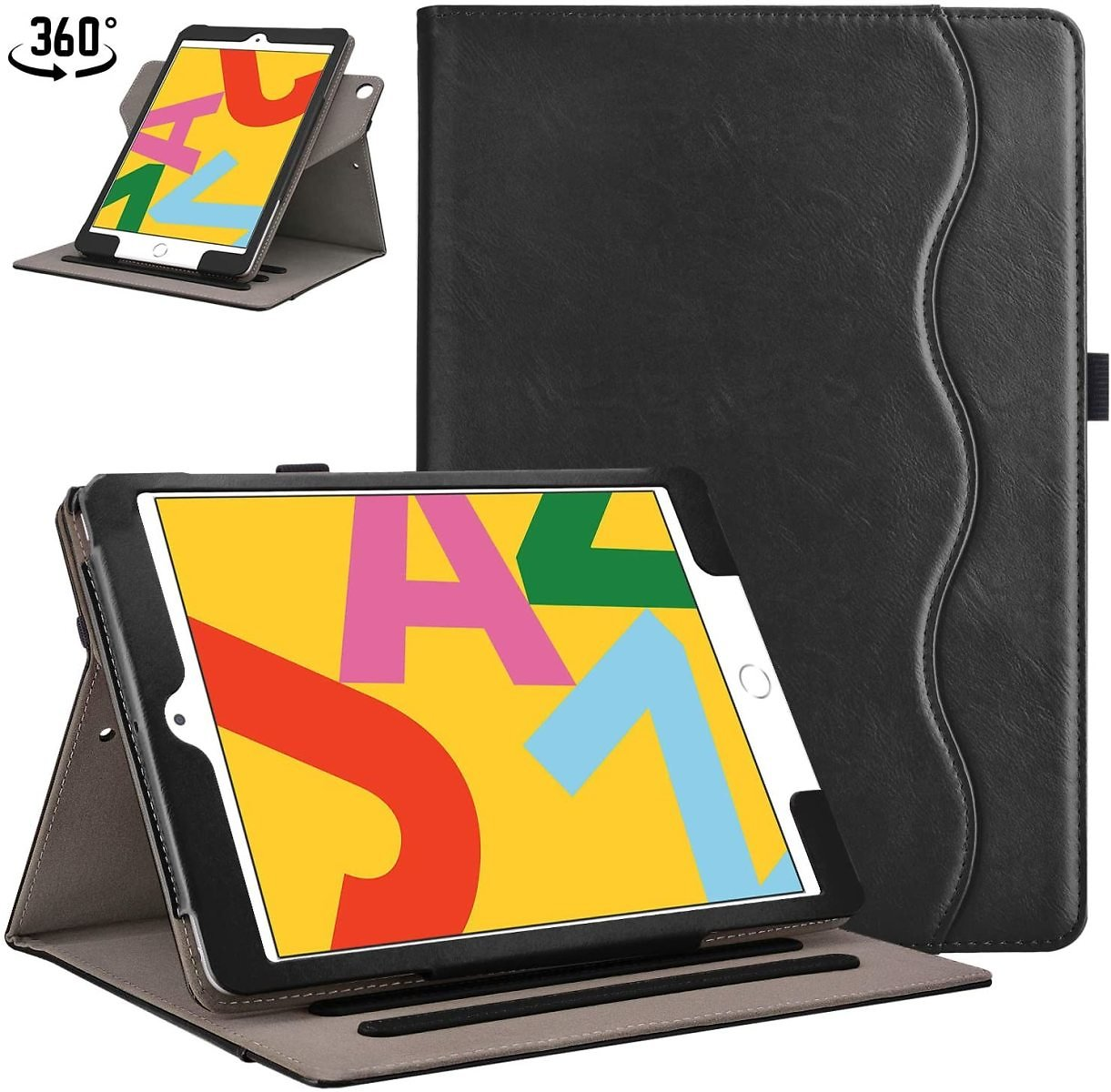Retear Case for New IPad 7th Generation 10.2 Inch 2019 PU Lightweight Smart Stand Apple Cover with Auto Wake/Sleep