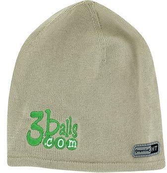 3balls Signature Beanie Knit Hat - Tan Headwear