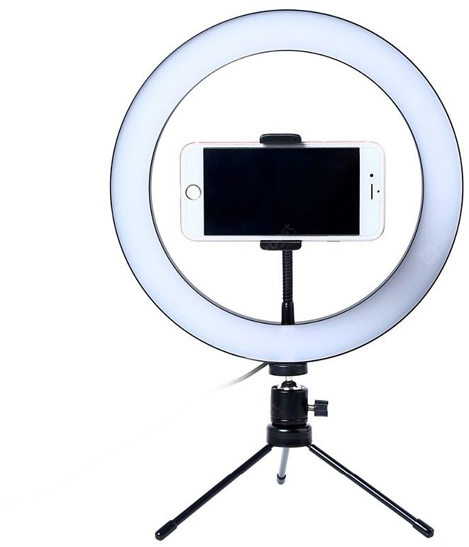 Photography LED Selfie Ring Light 26CM Dimmable Camera Phone Ring Lamp 10inch With Table Tripods Sale, Price & Reviews | Gearbest