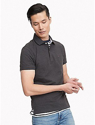 Slim Fit Essential Solid Stretch Polo | Tommy Hilfiger