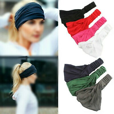 Elastic Headband Wide Hairband Head Wrap Yoga Stretch Turban Sport Bandanas New