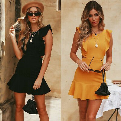 Women Summer Backless Bodycon Mini Dress Evening Cocktail Party Beach Dress Hot