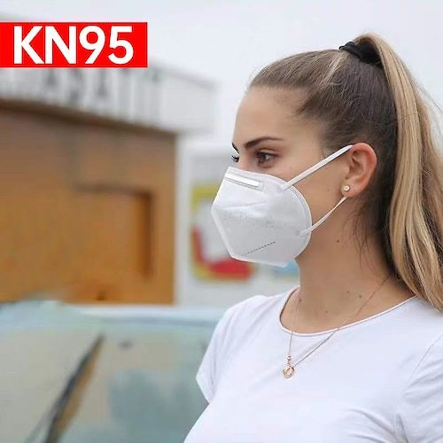10pcs KN95 Face Mask Anti-Virus Dust Roof Mouth Respirator Safety Protection N95 Non-Medical