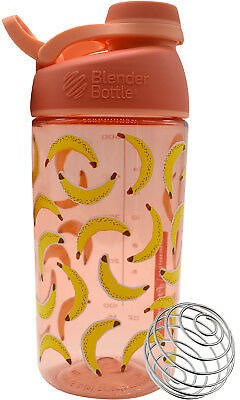 Blender Bottle Sleek 20 Oz. Twist-On Cap Shaker Bottle with Loop Top - Bananas 619159366372