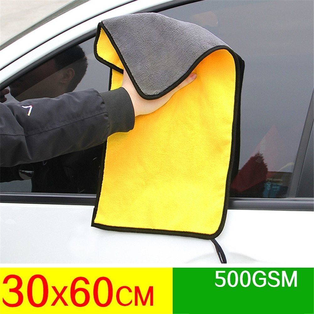 Mling 30x30/60CM Car Wash Microfiber Towel Car Cleaning Drying Cloth Hemming Car Care Cloth Detailing Car Wash Towel For Toyota
