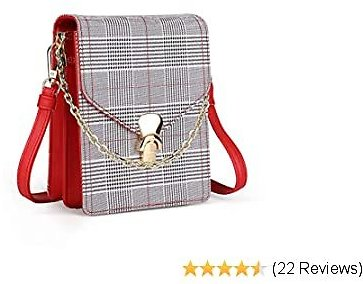 SeOSTO Leather Cell Phone Purse, Small Crossbody Phone Bag Mini Shoulder Bag with 2 Straps for Women