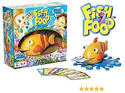 """Fish Food Game """"New Edition"""" Electronic, Motorized, Talking – Family Fun with Unpredictable Action and Outcome"""