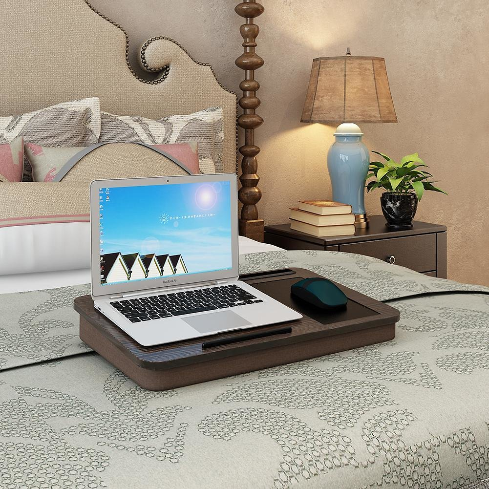 AsyPets Portable Laptop Desk Tray Outdoor Learning Desk Lazy Tables Laptop Stand Holder for Bed Sofa