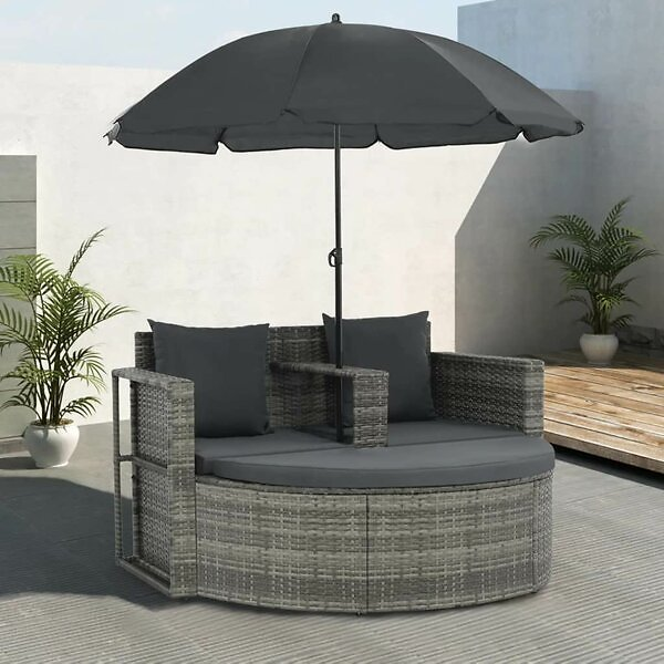 Whitnash 3 Piece Rattan Patio Daybed