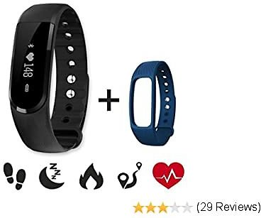 Fitness Heart Rate Tracker,CAMTOA ID101HR Wireless Fitness Monitor,Smart Bracelet,BT 4.0 Heart Rate Monitor-Waterproof IP67,Sleep Monitor,Notification Alerts Wristband