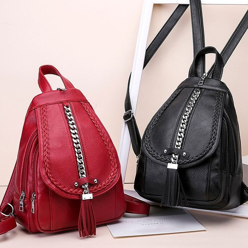 38% OFF - Female Backpack Designer High Quality Leather Women Bag Fashion School Bags