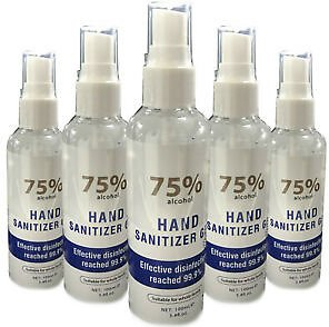 Antibacterial Hand Sanitiser 100ml Disinfectant Sanitising Gel 75% Alcohol UK