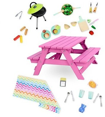 Our Generation Deluxe Accessory - Picnic Table Set