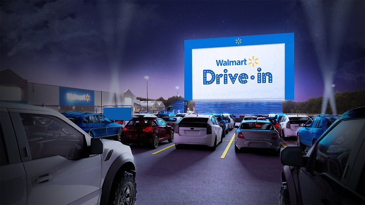Walmart Partners with Tribeca to Turn 160 Store Parking Lots Into Drive-in Theaters