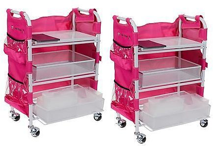 Totally-Tiffany Craft Cart Set of 2 with Aprons and Die Storage - 10082863   HSN